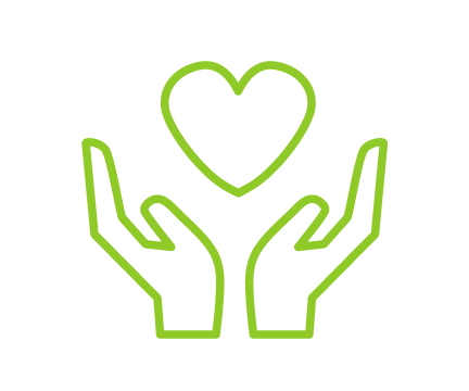 image of donate icon in green